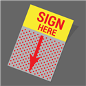 Sign Here Graphic