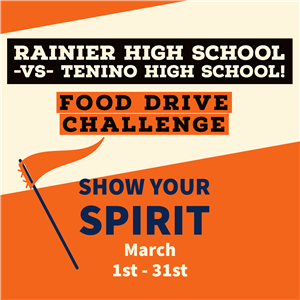 RHS vs Tenino Food drive Challende show your spirit March1st-31st
