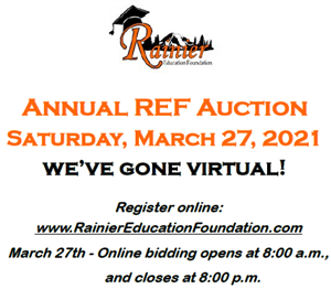 Annual REF Auction sat. March 27, 2021 We've gone virtual. Register online