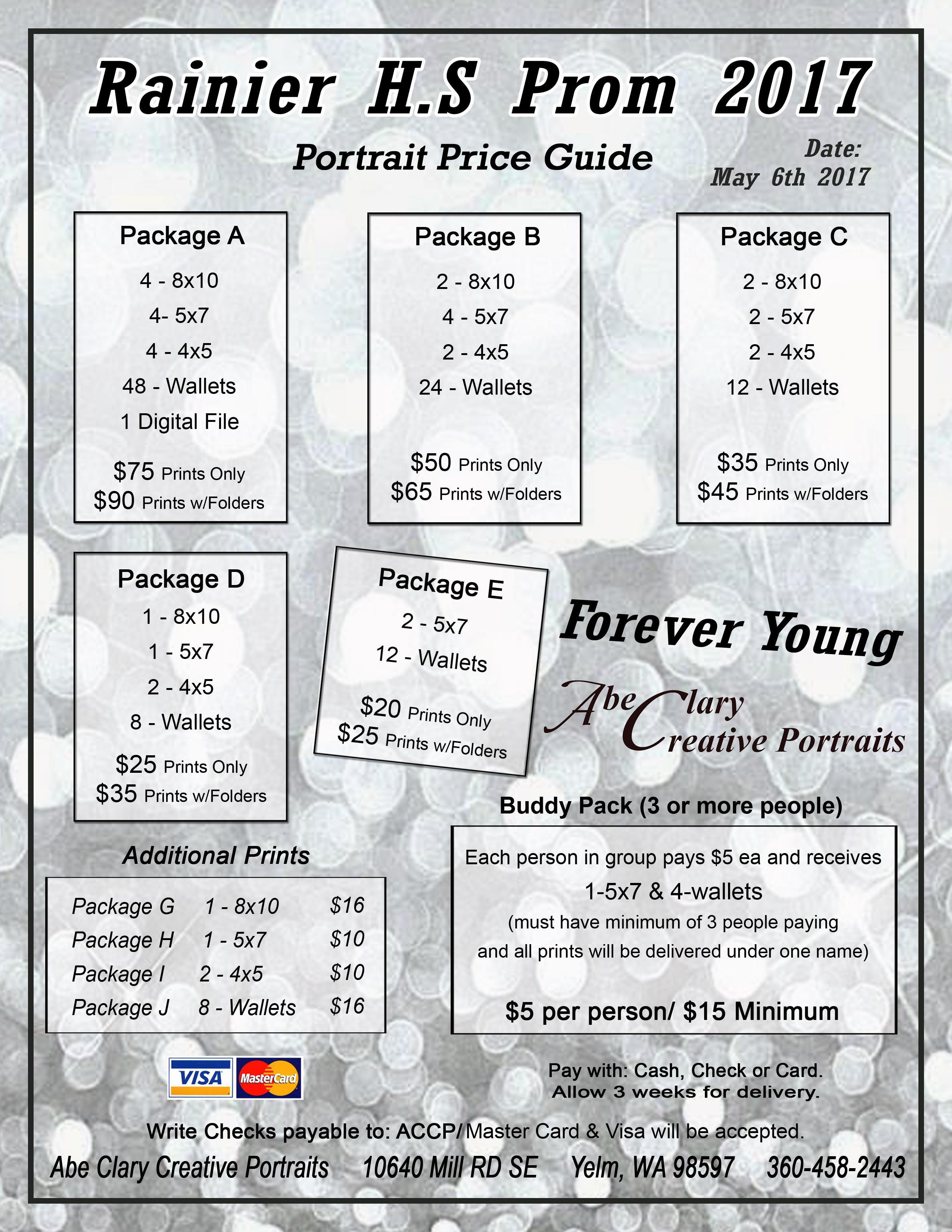 Prom photo pricing